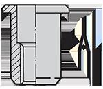 1Nitonakrętka-CTGO-aluminiowa---Cylindryczna,-Tulejka,-Gładka,-Radełko