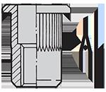 2Nitonakrętka-CTRO-aluminiowa---Cylindryczna,-Tulejka,-Radełko,-Otwarta